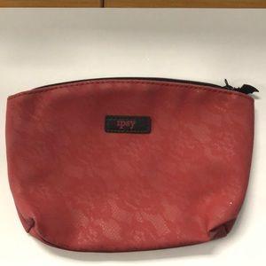 Ipsy maroon and black makeup bag